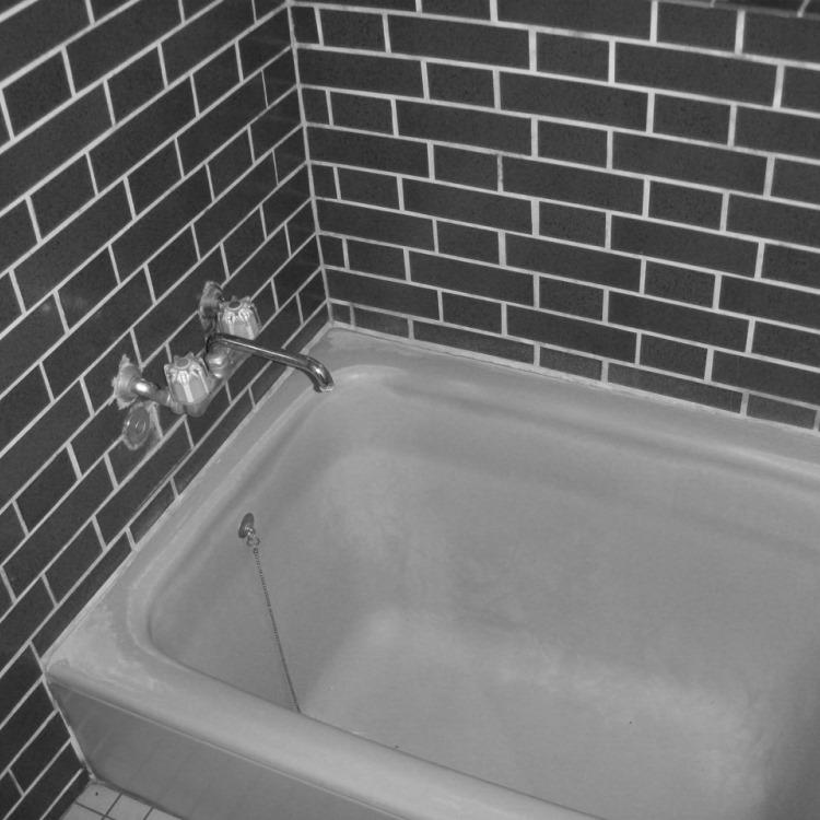 浴室 タイル ビフォー